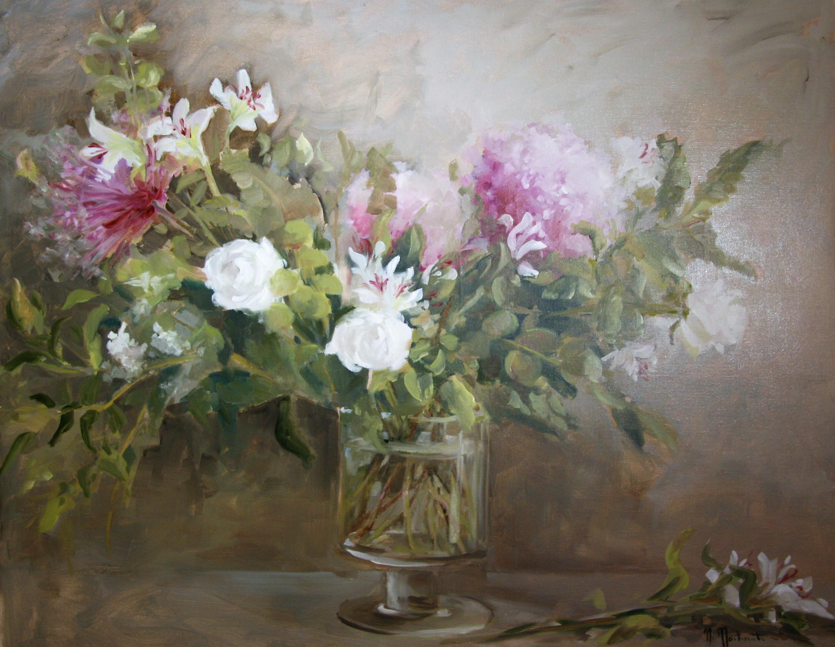 Le bouquet d'Arnaud, 80x100cm