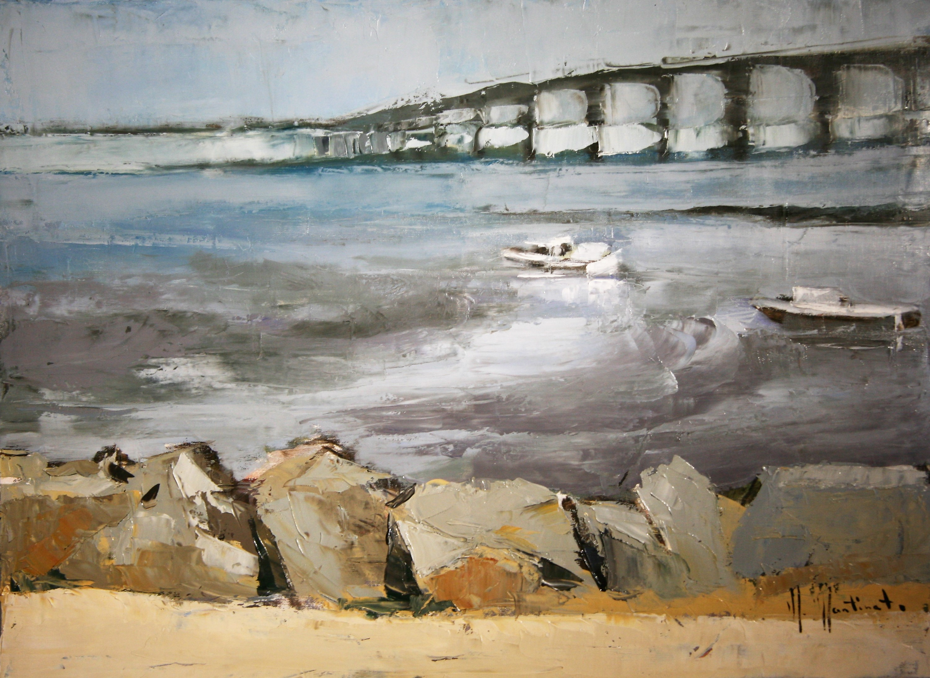 Le_pont_de_Ré,_54x73cm