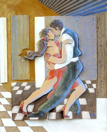 Tango avril 58x62x4 cm