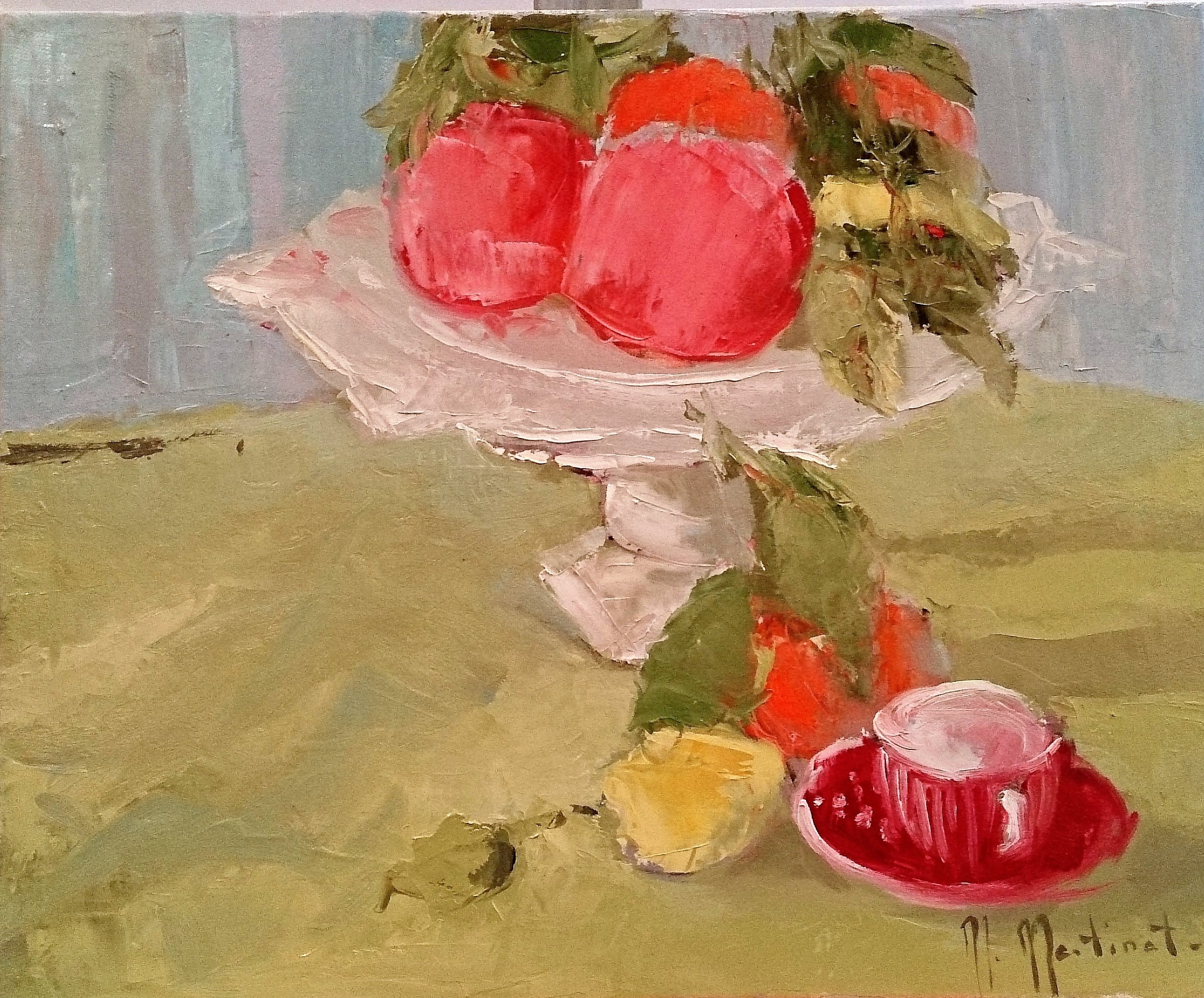 Coupe de fruits rouges, 38x46cm