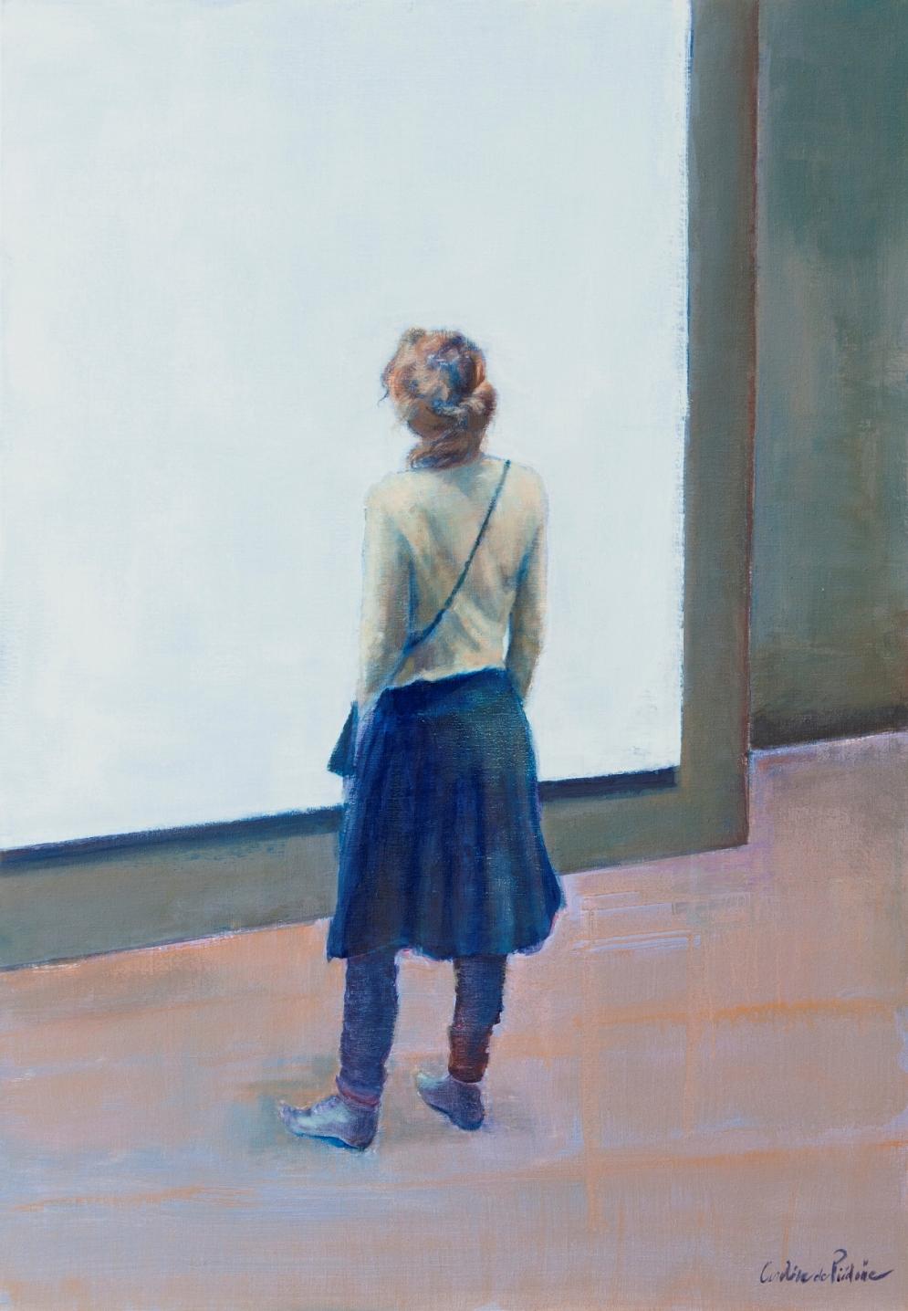 la jeune femme et la toile,  116x81cm