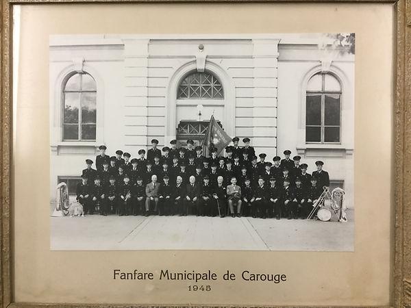 musique municipale de carouge en 1945