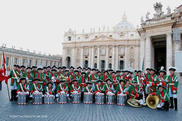 musique municipale de carouge en 2008 au vatican à Rome
