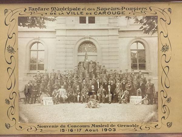 musique municipale de carouge en 1903