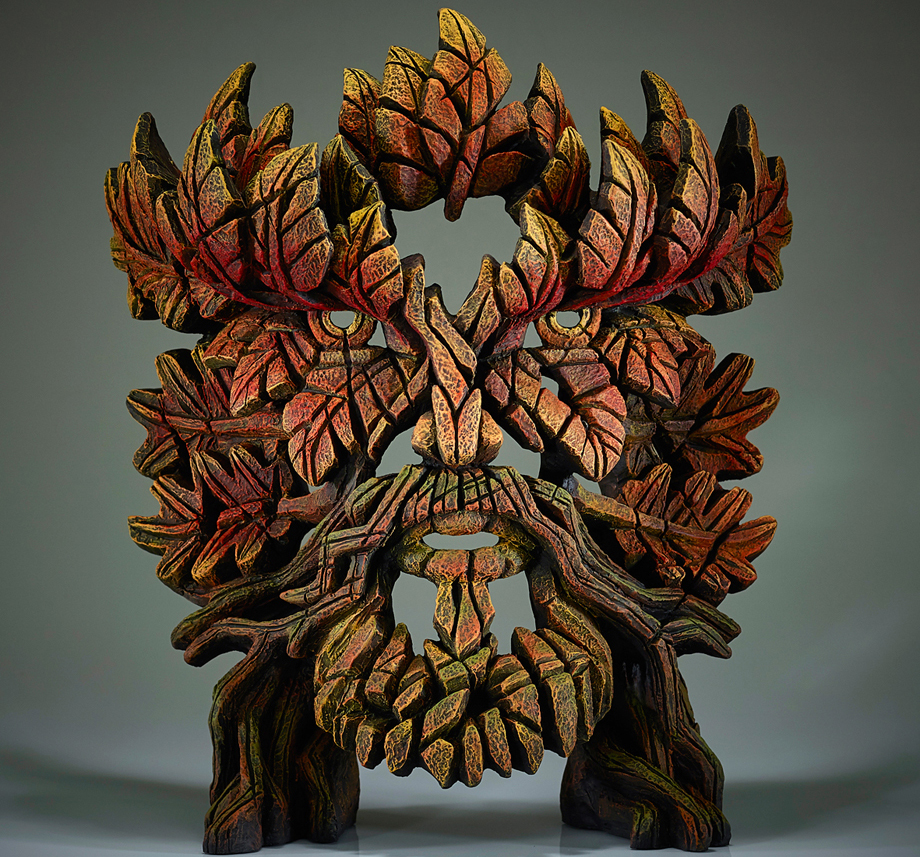 Green Man Bust (Autumn Flame)