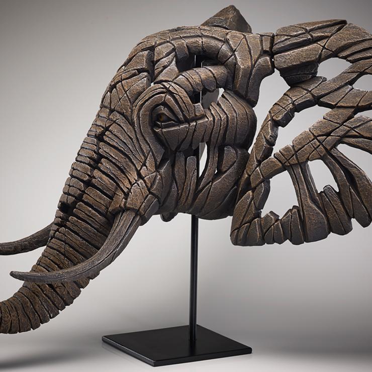African Elephant Bust