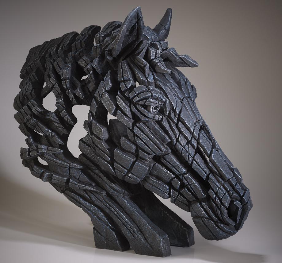Pferde-Büste (schwarz)