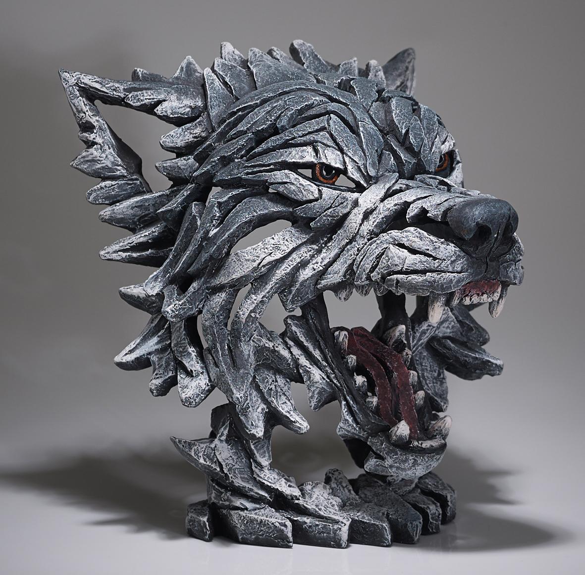 Wolf Bust (Grey)