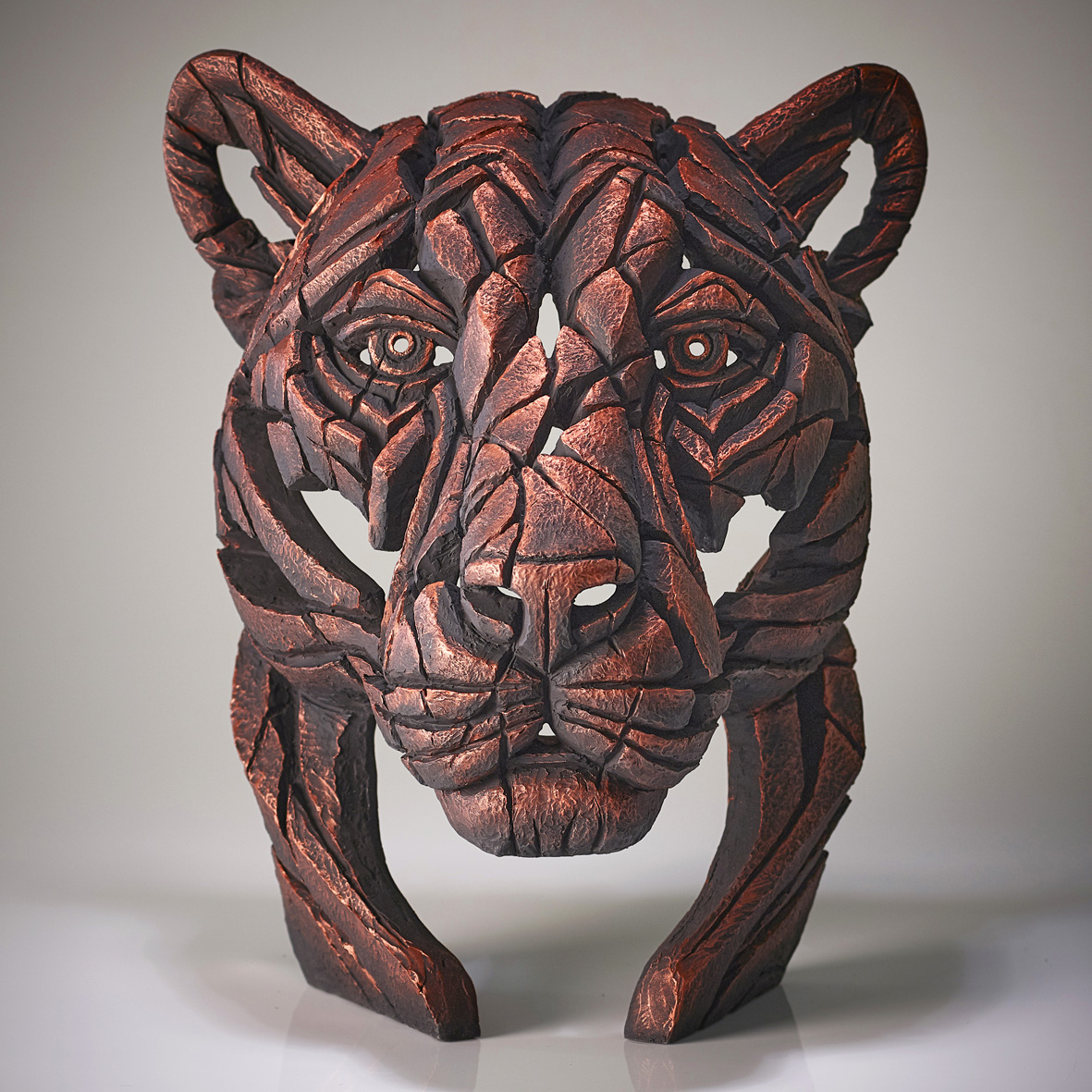 Panther Bust 'Jungle Flame' (Copper)