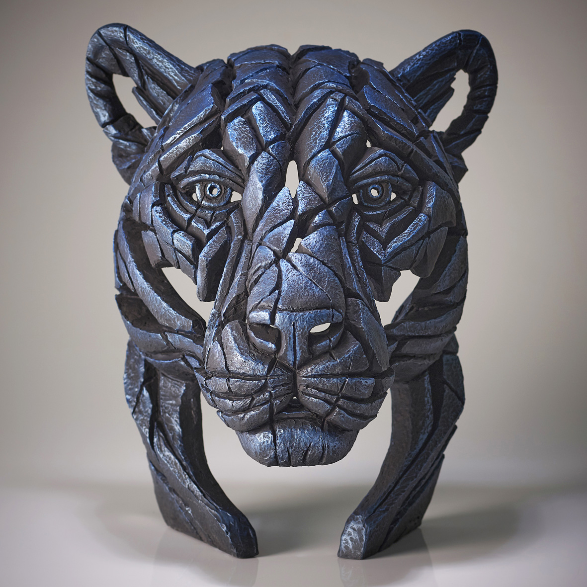 Panther Bust 'Night Shadow' (Blue)