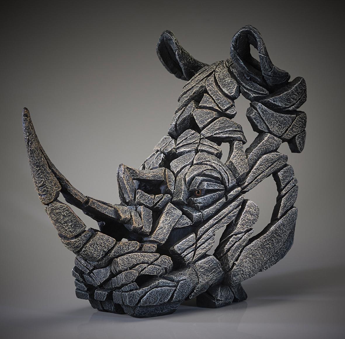 Nashorn-Büste (weiß)