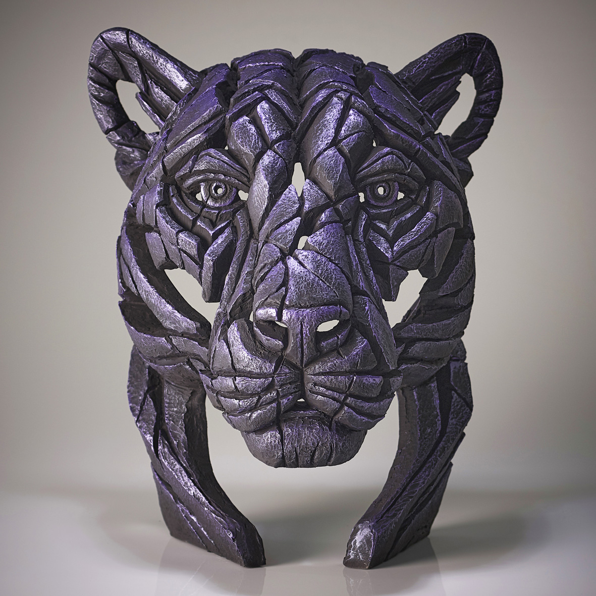 Panther Bust 'Moon Hunter' (Purple)