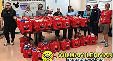 Thanksgiving Baskets at William Lehman Elementary
