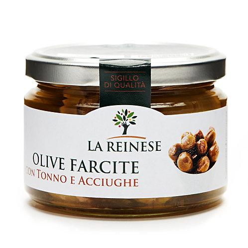 LA REINESE Olive ripiene con tonno e acciughe 240gr