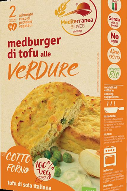 Burger di Tofu alle verdure - Meditteranea BIOVEG