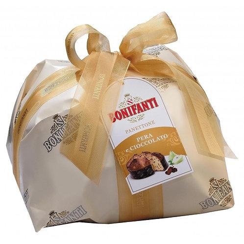 Panettone Pere e Cioccolato 1kg BONIFANTI