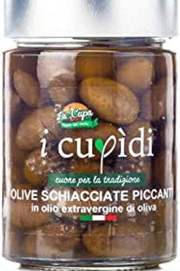 La Cupa Olive schiacciate piccanti in olio evo 200gr