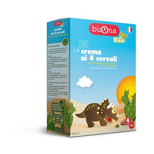 Zeno e la crema ai 4 cereali 250 gr- BUONO BIO