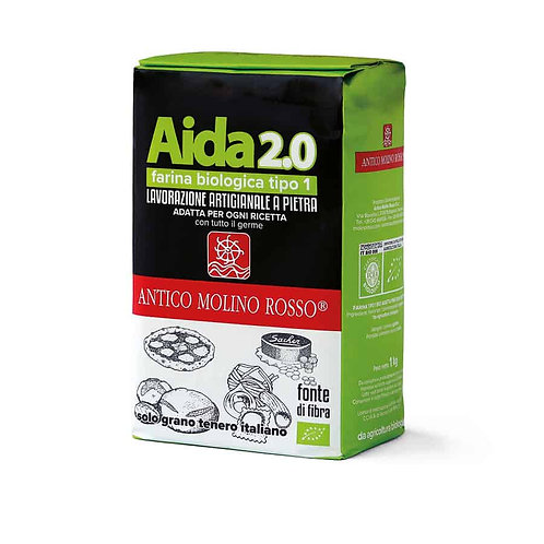 Farina grano tenero Tipo1 Aida 2.0 Bio 1kg - MOLINO ROSSO