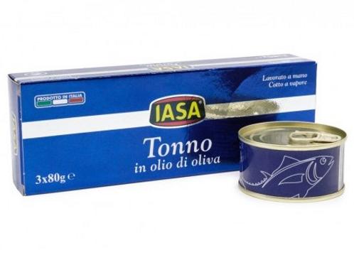 IASA Pezzi di Tonno in olio d'oliva 3x80gr