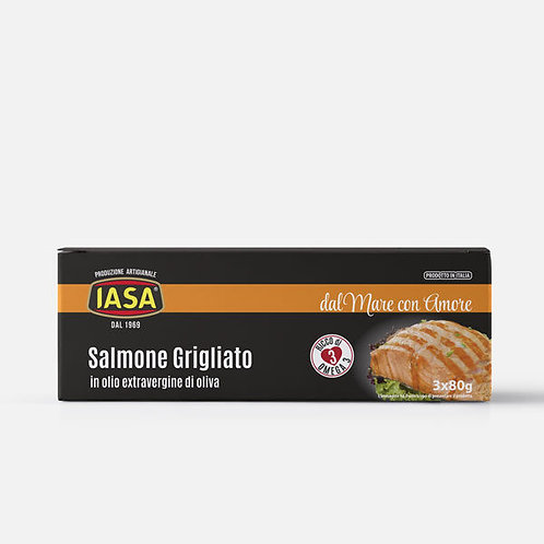 IASA Linea con Olio di Mare (+Omega3) Salmone grigliato 3x80gr