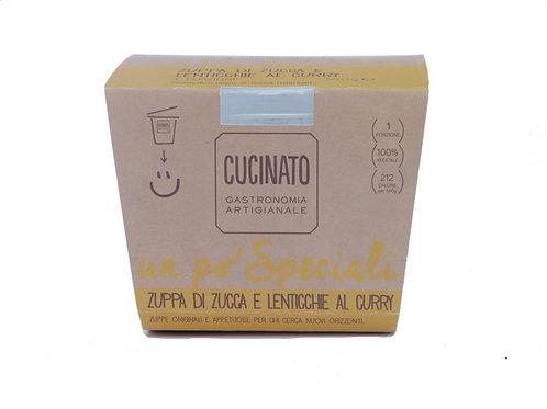 Zuppa di Zucca, lenticchie e curry 1porzione