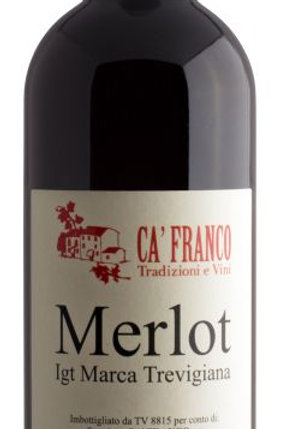 CA' FRANCO Merlot IGT marca Trevigiana