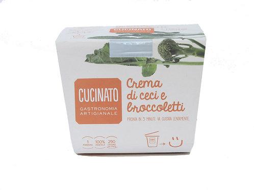 Crema di ceci e broccoletti 1porzione