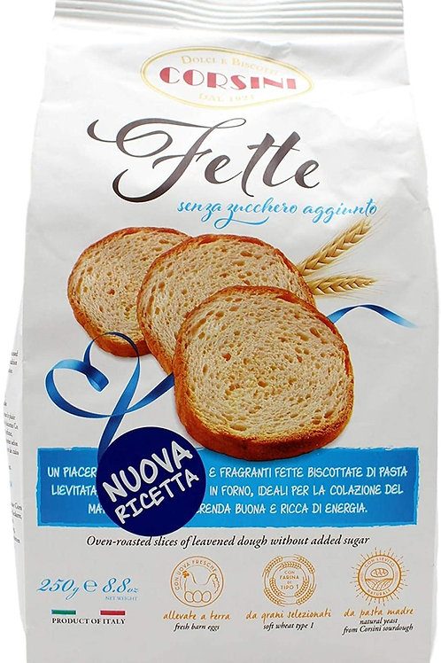 CORSINI - Fette biscottate senza zucchero aggiunto 250gr