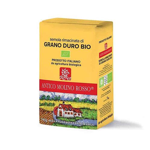 Semola di grano duro rimacinata bio 1 KG - MOLINO ROSSO