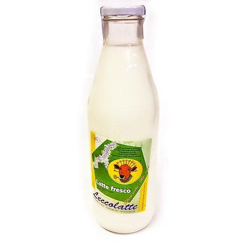 latte di montagna in vetro Leccolatte