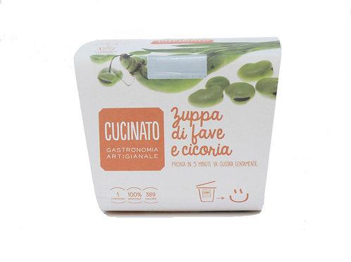 Zuppa di Fave e cicoria 1porzione