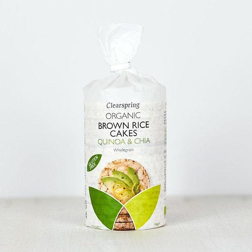 CLEARSPRING Gallette di RISO, Quinoa e semi Chia 120g
