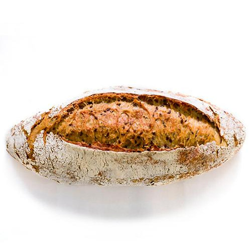 pane ai cereali semi di lino pasta madre lievitazione naturale