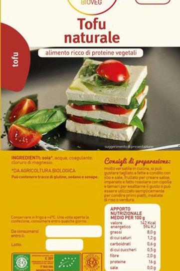 Tofu Naturale - Meditrerranea BIOVEG