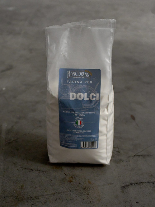 Farina Tipo 0 per Dolci – 1 kg – 150 W - MOLINI BONGIOVANNI