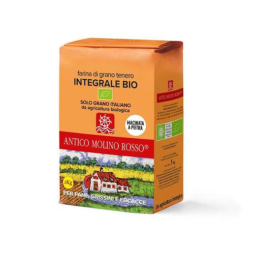 Farina integrale di grano tenero 1kg BIO - MOLINO ROSSO