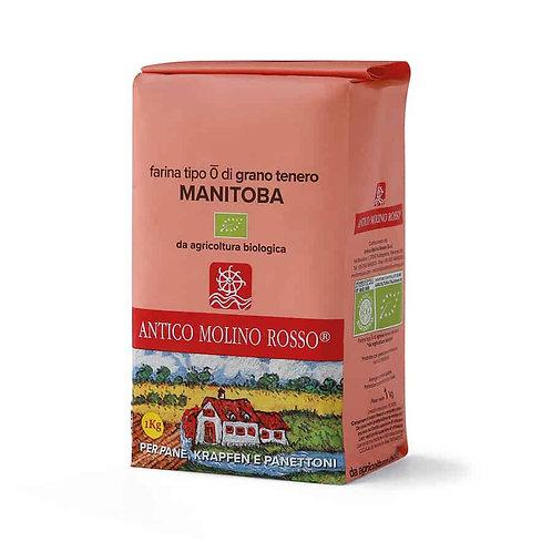 Farina di Grano Tenero Manitoba Tipo 0 1 KG - MOLINO ROSSO