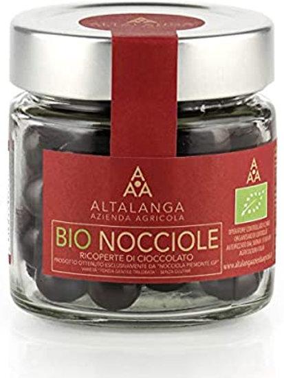 Nocciole Piemonte IGP al cioccolato BIO 120gr ALTALANGA