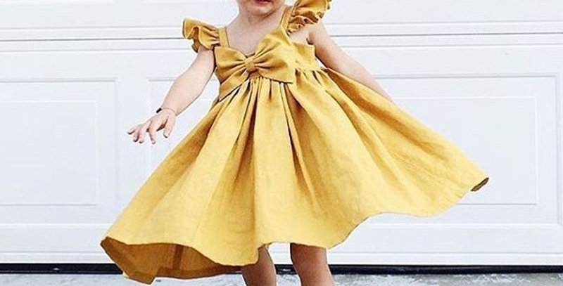 Girl's Bow-Tie  Dress