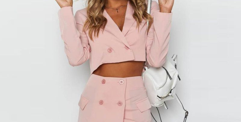 Pink Collection Skirt Suit Set