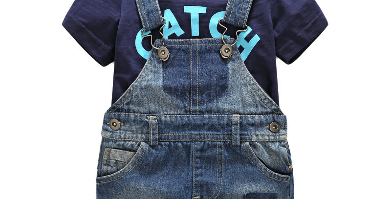 Boy's Catch Some Waves Overall Set
