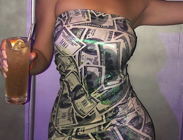 Money Bag Fitted Dress