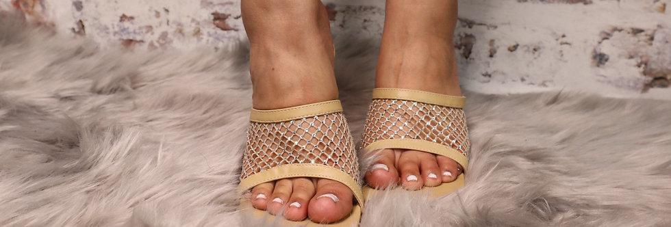 Net Studded Heels