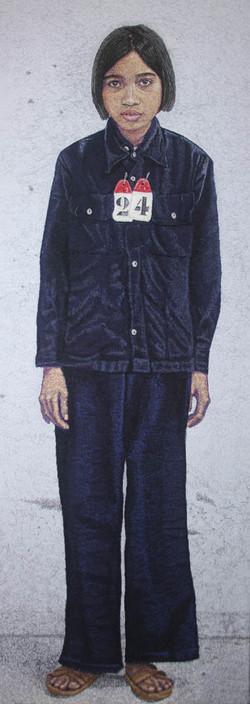 """Number 24, Cambodia, 1972, 56""""x20"""""""