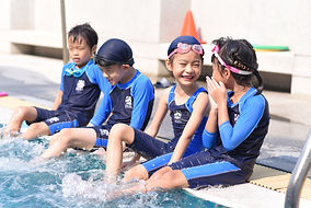 trail students by the pool