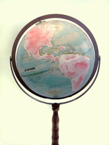 Barbies dream Globe - Evereywhere on earth Barbie is sold.