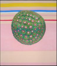 kermits over piggy - pastel on paper