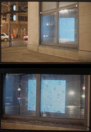 One hour of Spontaneous Beauty video projection   2000