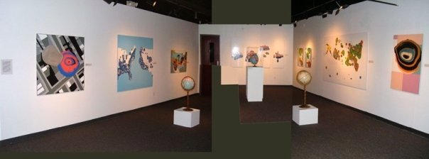 Installation view at Gallery 210